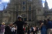 Camino del Santiago en bicicleta eléctrica y plegable Ebroh Passione