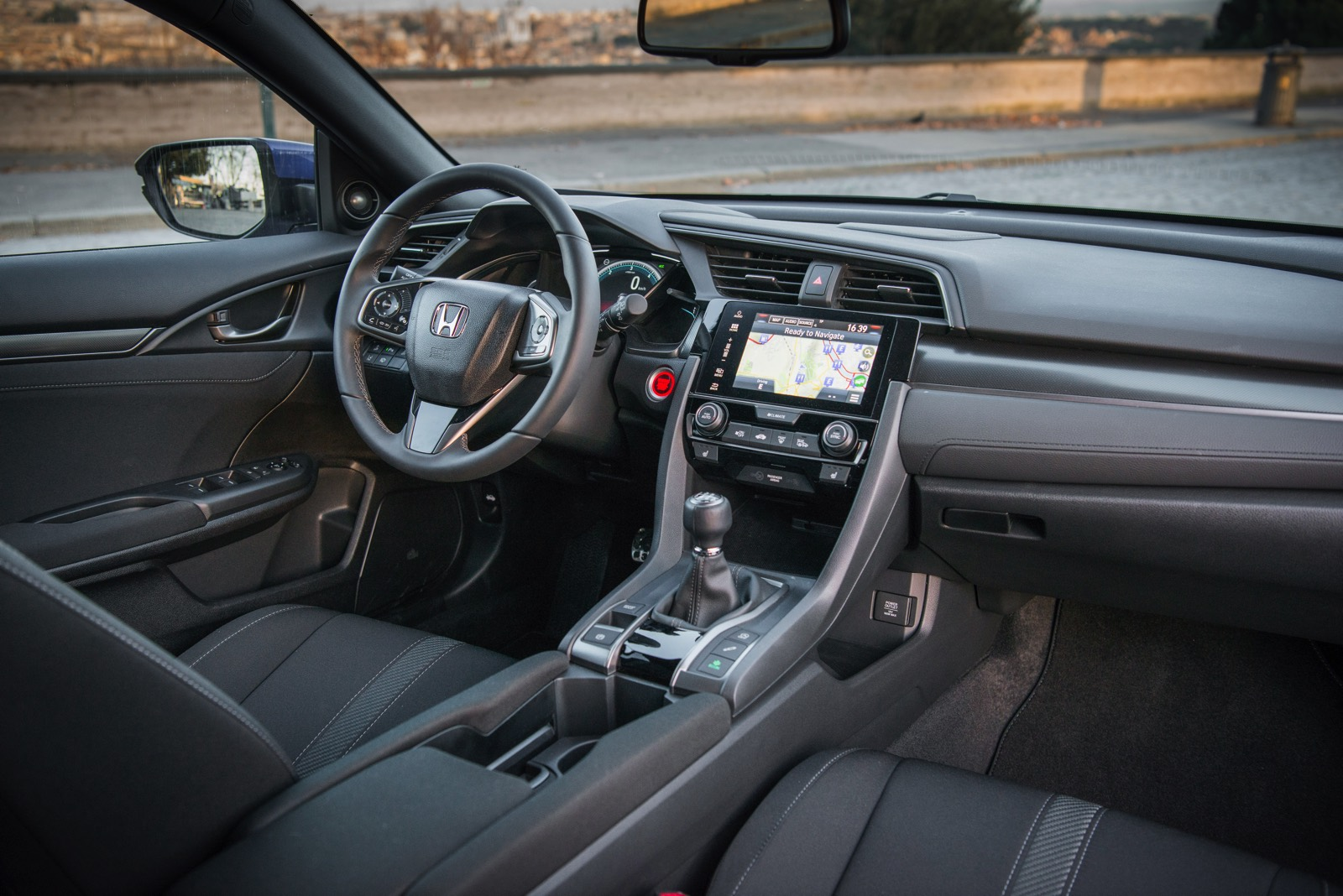 Interior del Honda Civic 2018