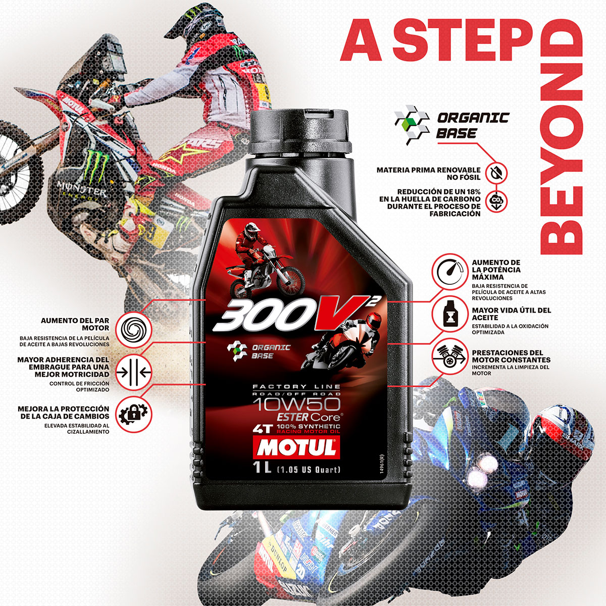 Aceite para motos de competición Motul 300V2