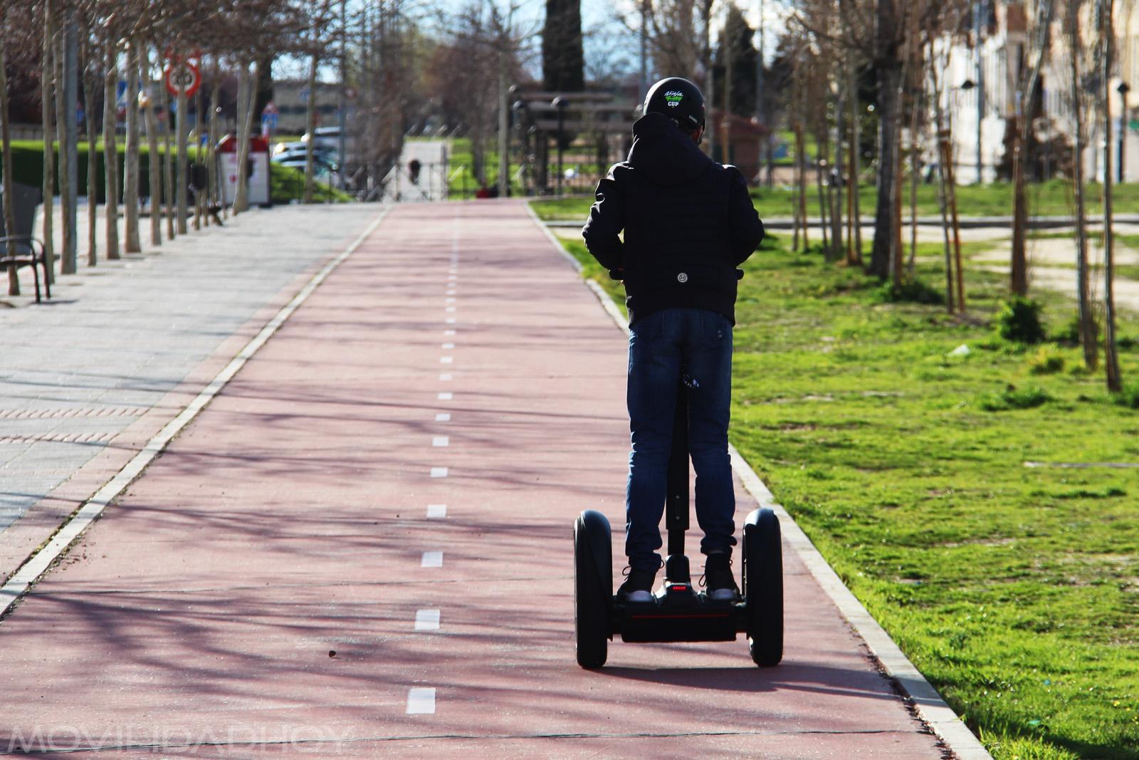 Los carriles bici son ideales para el Segway