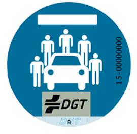 Etiqueta DGT de vehículo compartido