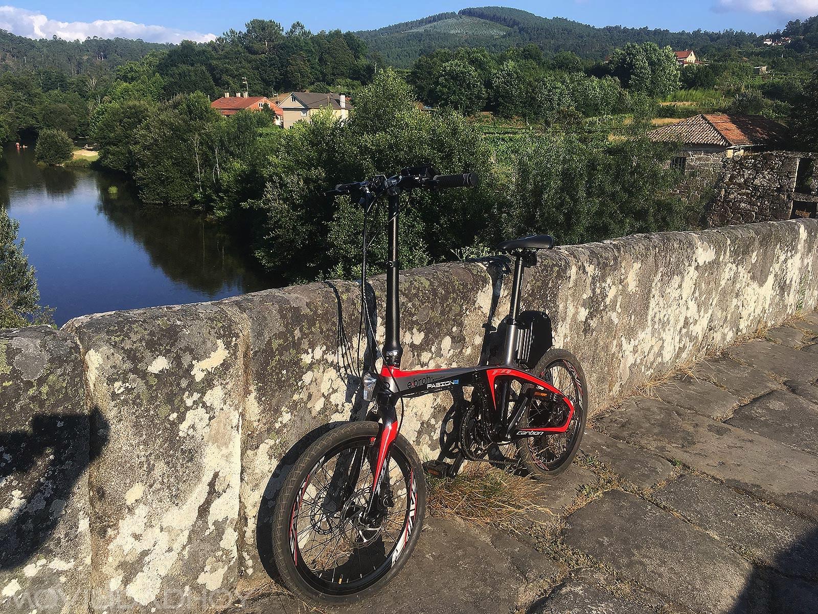 Camino de Santiago en bicicleta eléctrica y plegable Ebroh Passione