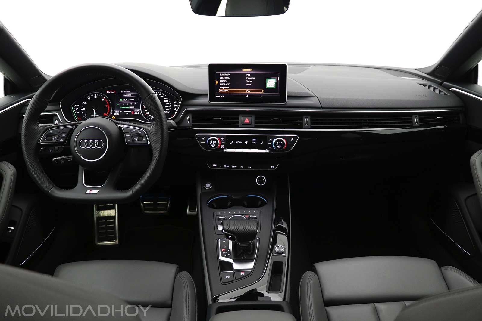 Interior del Audi A5 g-tron sportback