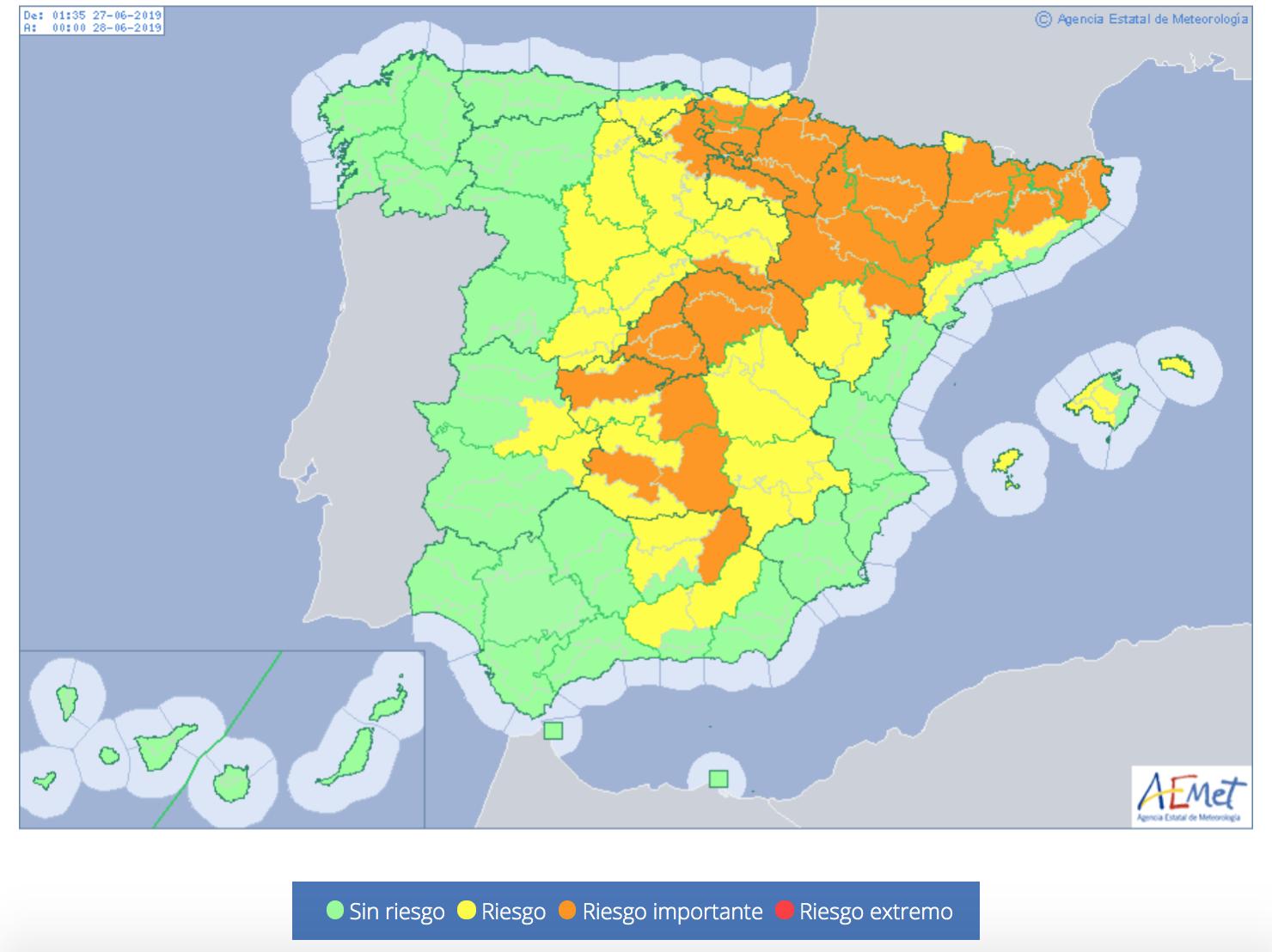Ola de calor, riesgo en España