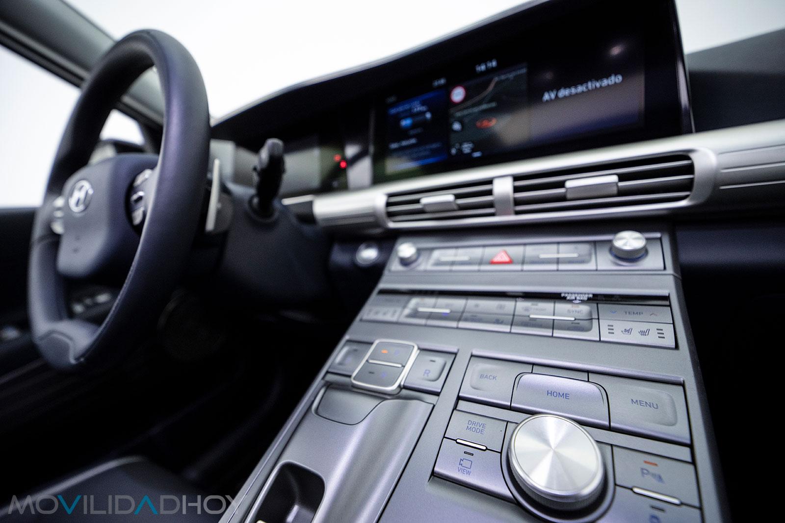Consola central del Hyundai Nexo