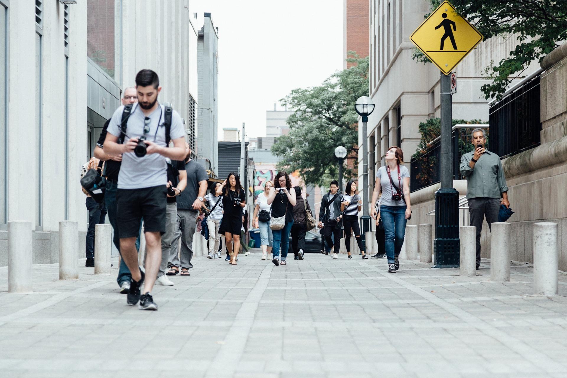 Peatones calles