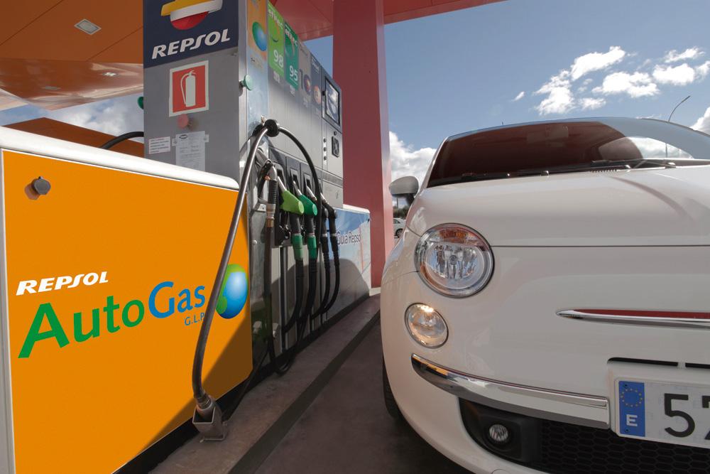 GLP repostaje en gasolinera
