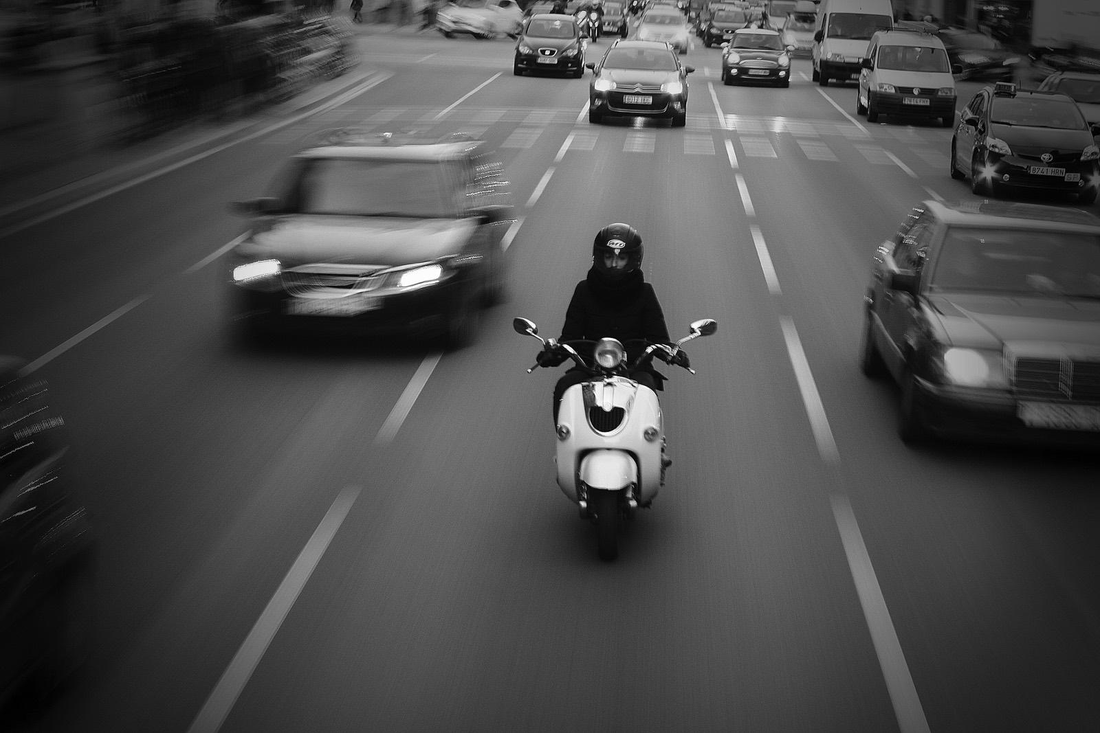 Coches y motos en Barcelona
