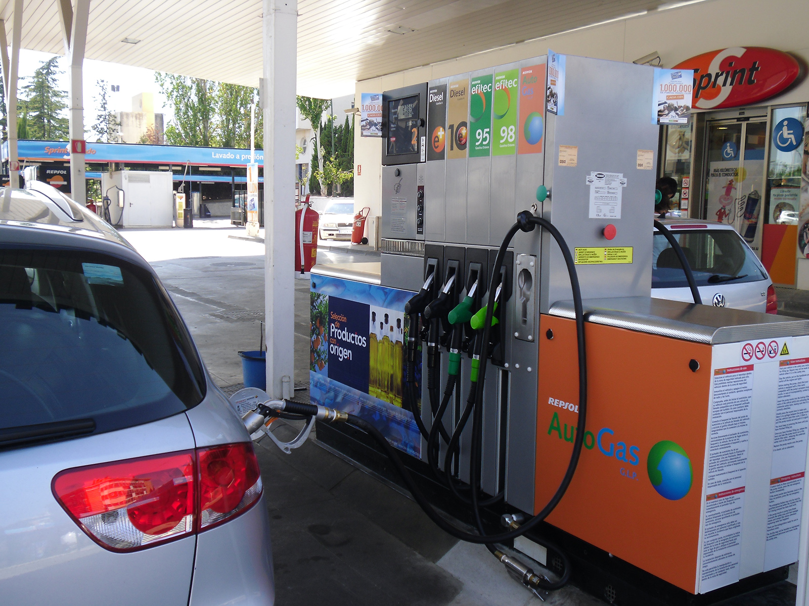 Gasolineras con GLP